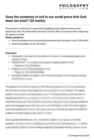 Problem of Evil example essay